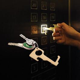 Hygieninen ei-kosketus avaimenperä